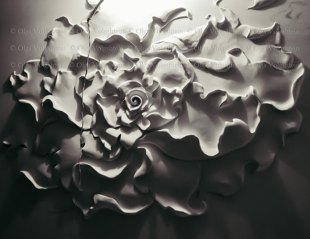 Декор цветок на стене