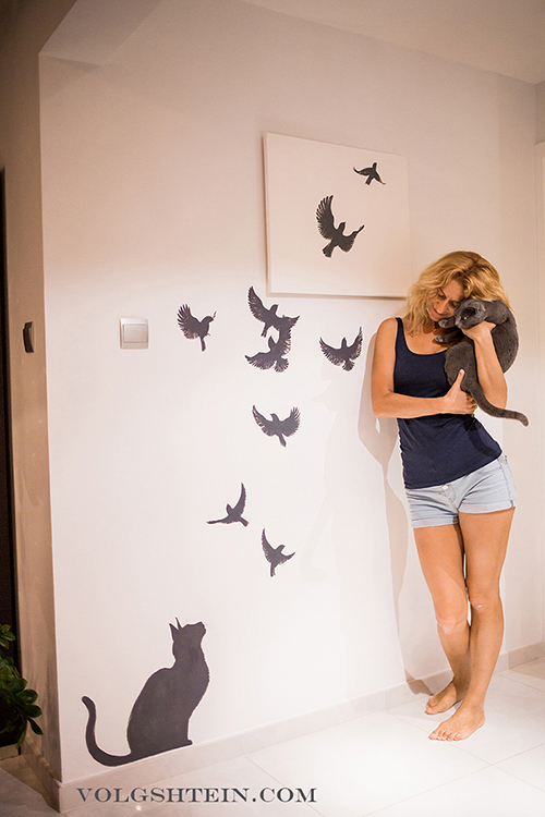 Wall Painting Soaring Birds Volgshtein Com